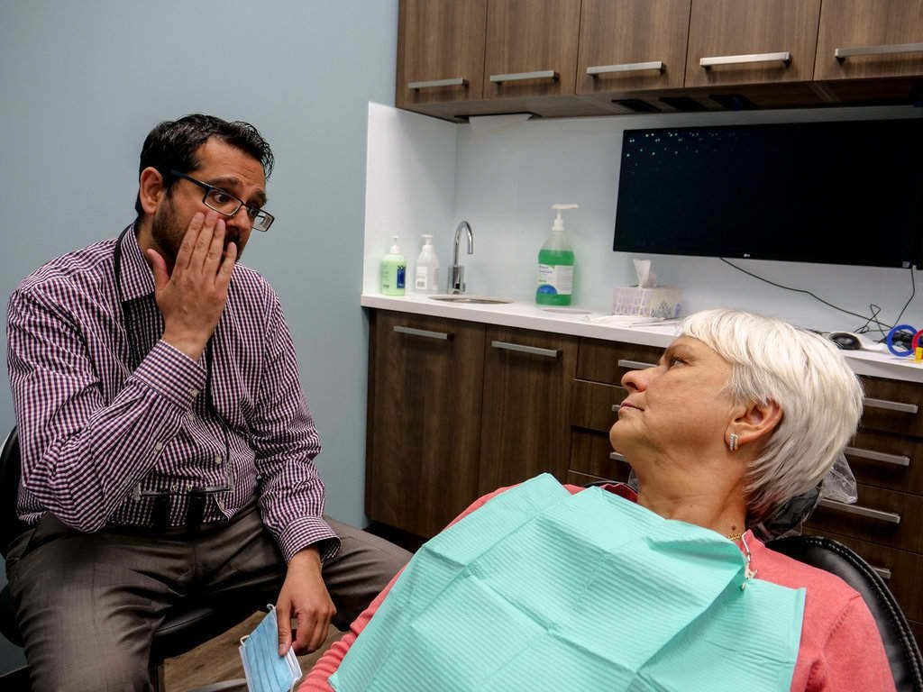 Dental Exam, Dr. Amardeep Gill dealing with an emergency dentistry problem